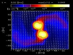 Density of near merger of two neutron stars